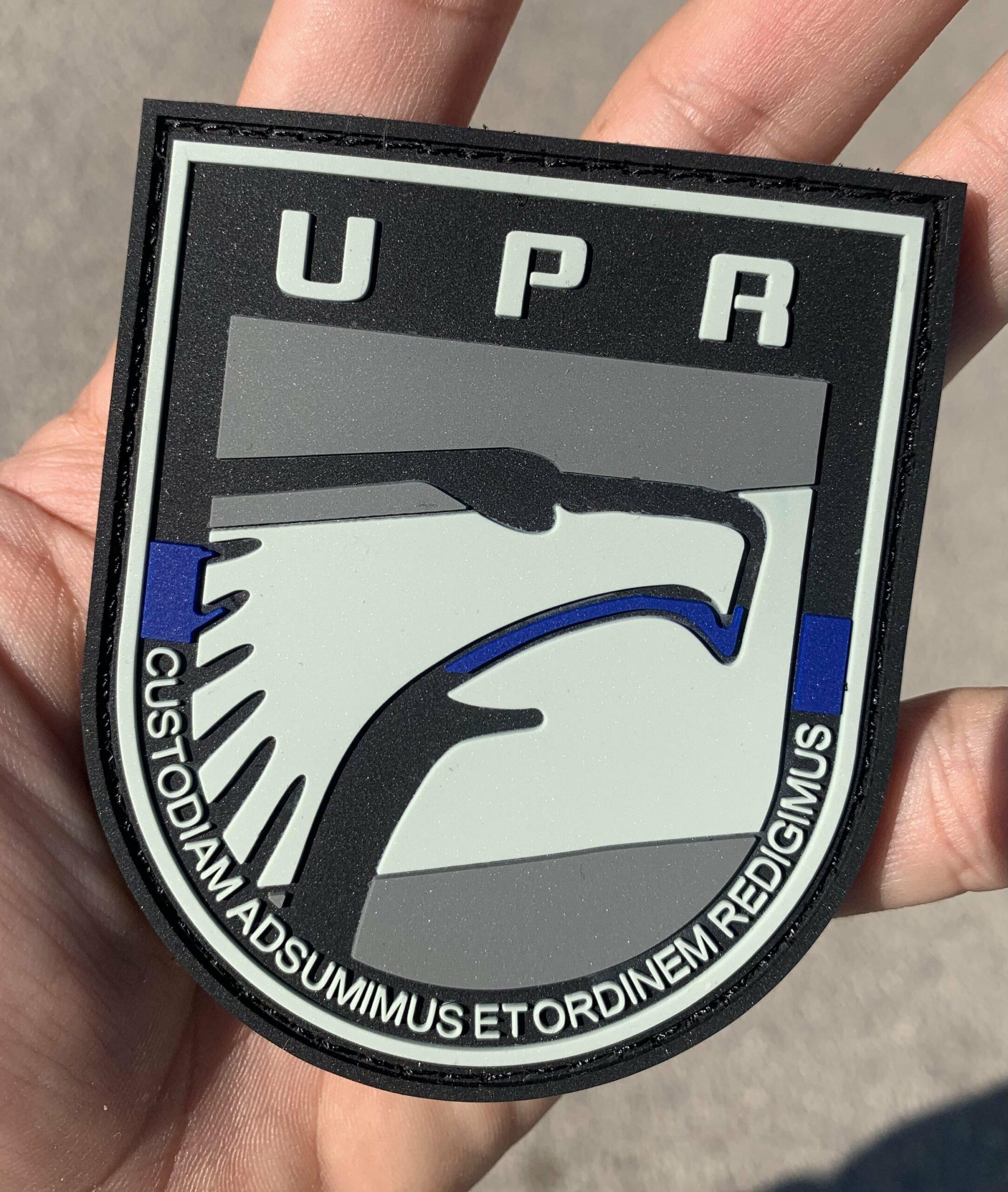 """Parche UPR """"la delgada línea azul"""""""