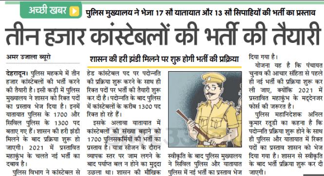 Uttarakhand Police New Bharti