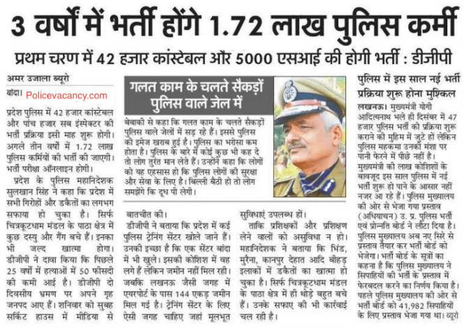 Upcoming UP Police Bharti 2020