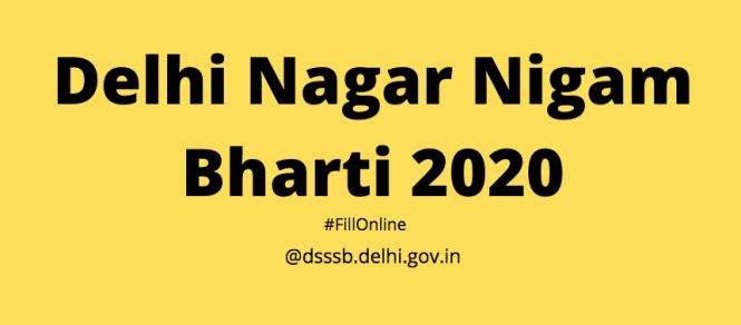 Delhi Nagar Nigam Bharti 2020