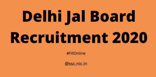 Delhi Jal Board Recruitment 2020