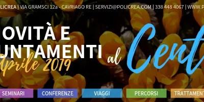 Novità e appuntamenti – Aprile 2019