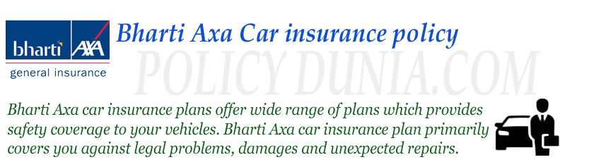 Bharti-Axa-car-insurance-po