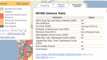 New NMTC Application Data on PolicyMap