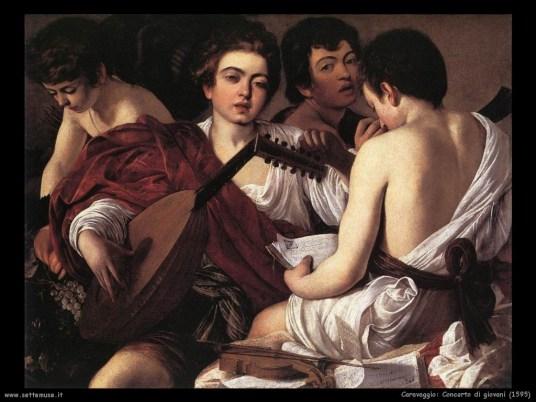 Caravaggio, Concerto di giovani (1595)