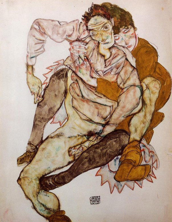 egon-schiele-seated-couple