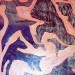 1997 Vento ed esplosione dipinto olio 1997