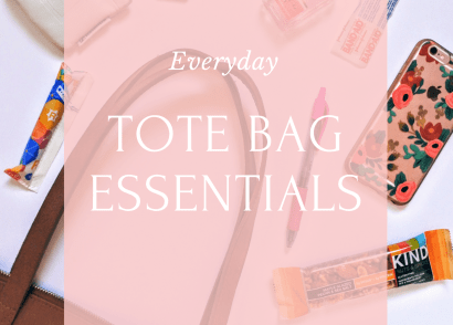 Never leave home without these tote bag essentials