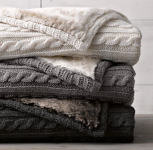 Textured blankets to pull together your rental space