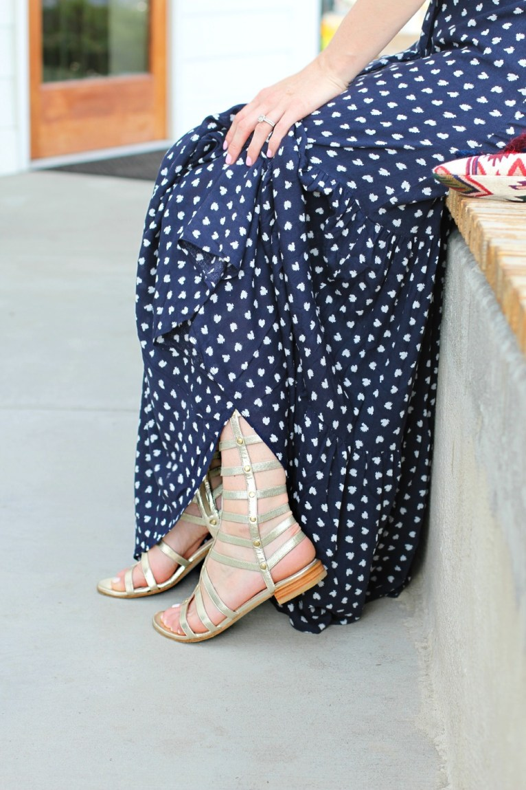 Gladiator Sandals and Maxi Dress