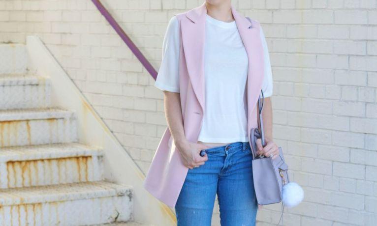 Pink Vest and Boyfriend Jeans