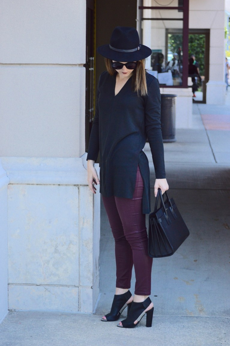 Black Tunic with Side Slit