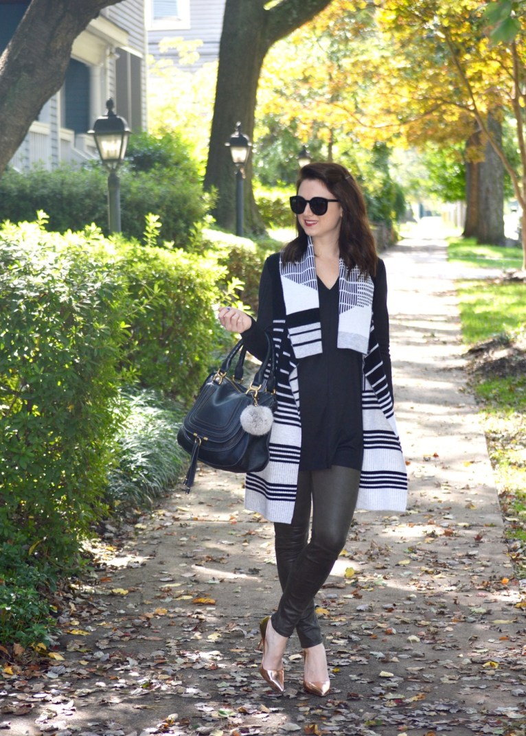 Vince Sweater Vest and Black Tunic