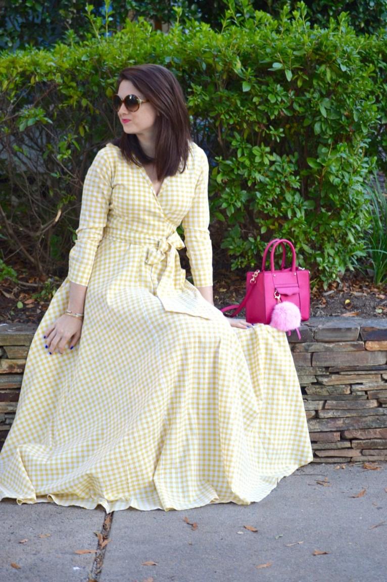 Shabby Apple Gingham Maxi Dress
