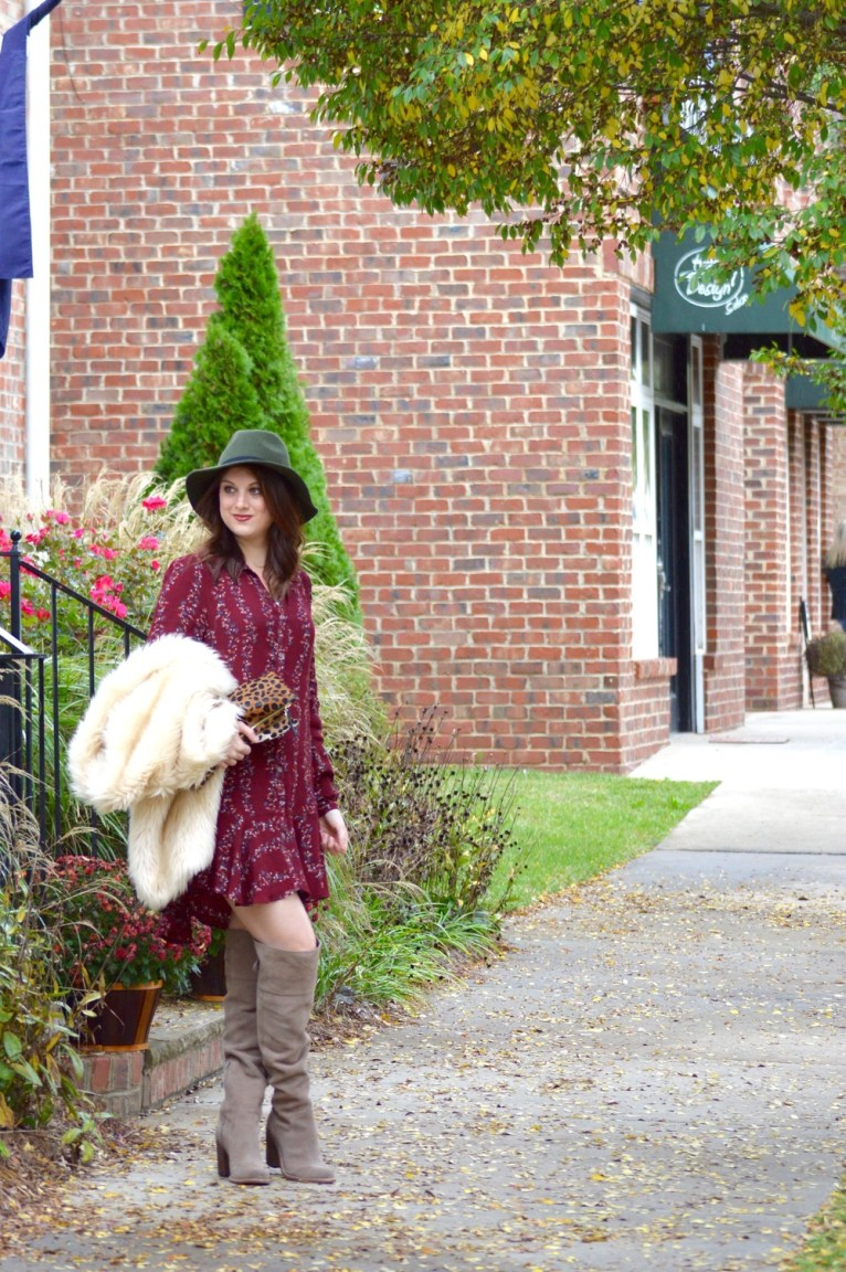 Green Wide Brim Hat and Shirtdress