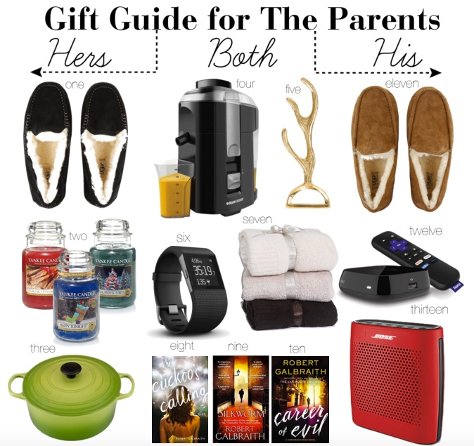 gift guide for the parents