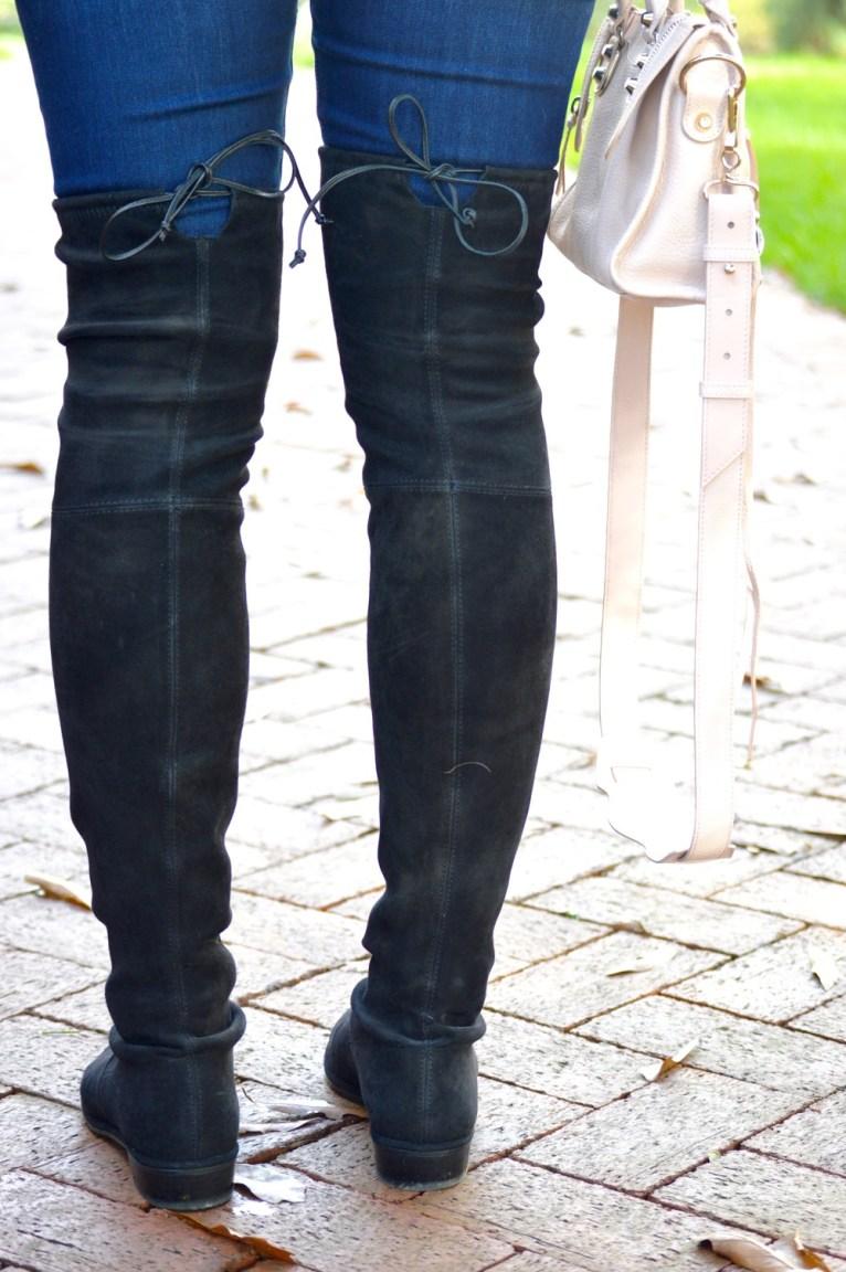 stuart weitzman lowland boots in black