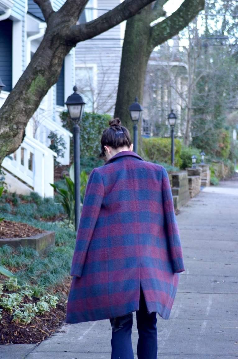 striped coat