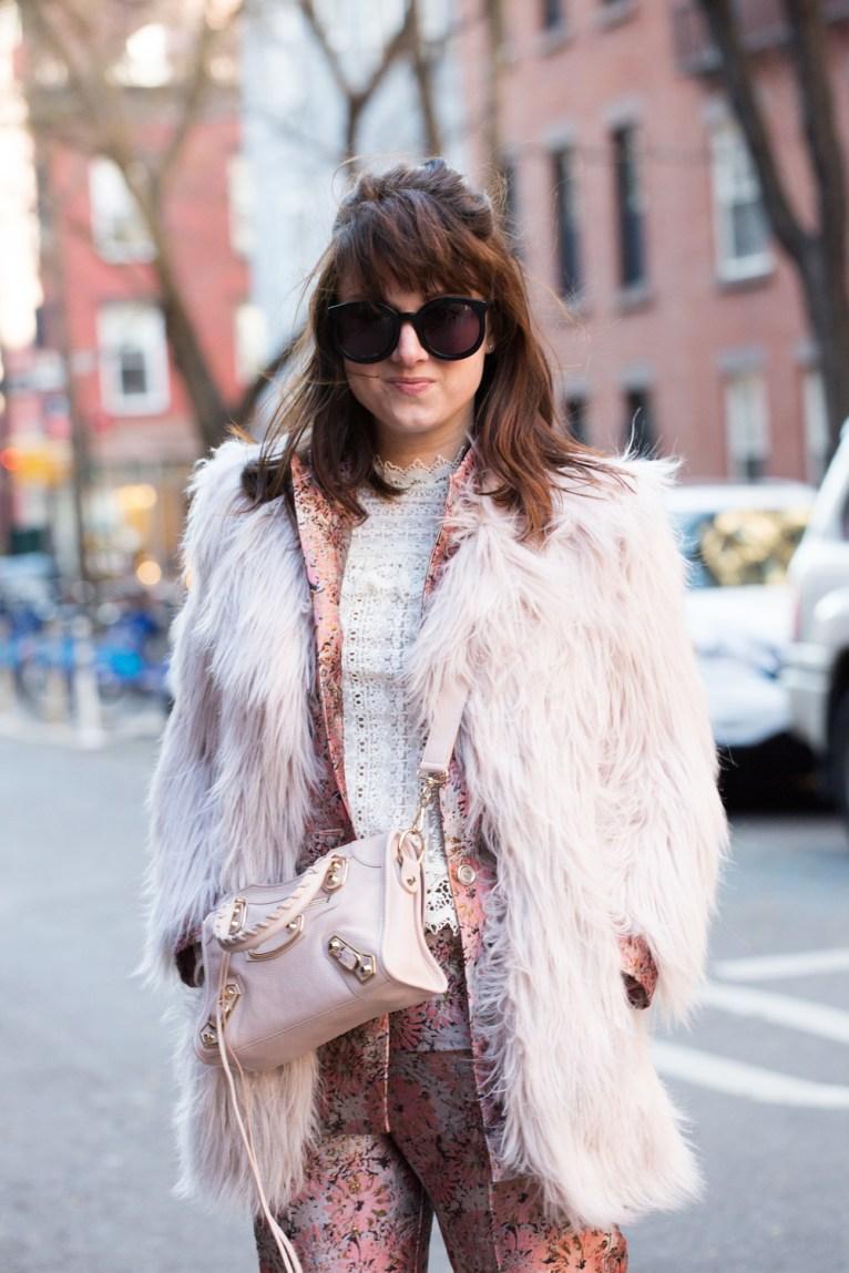 pink jacquard suit
