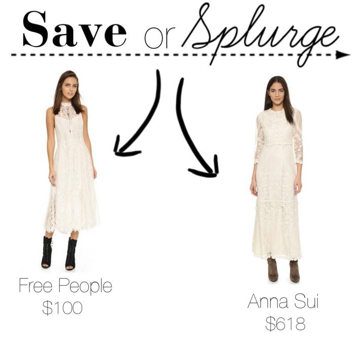 Midi White Lace Dress