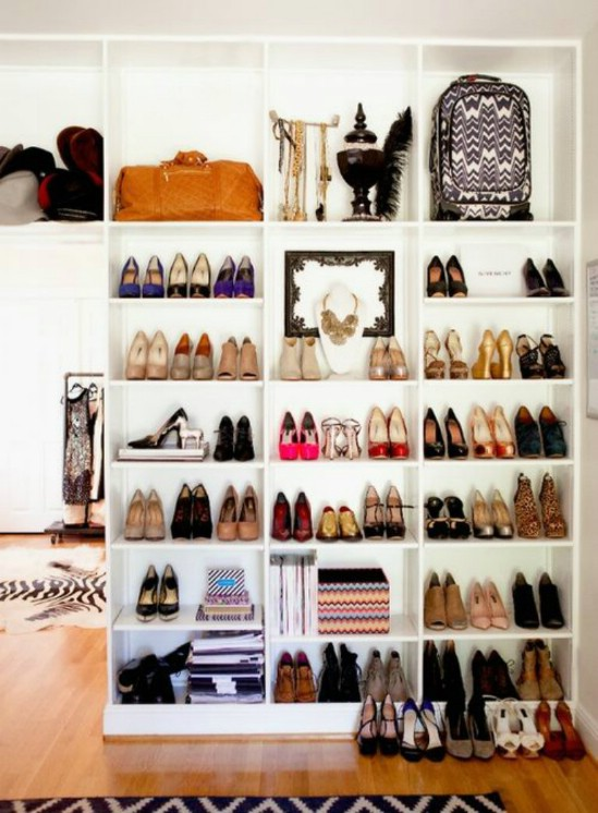 chic shoe shelf
