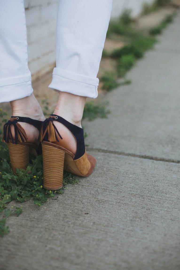 tassel heels by halogen