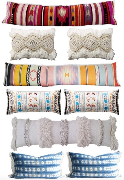 statement lumbar pillows
