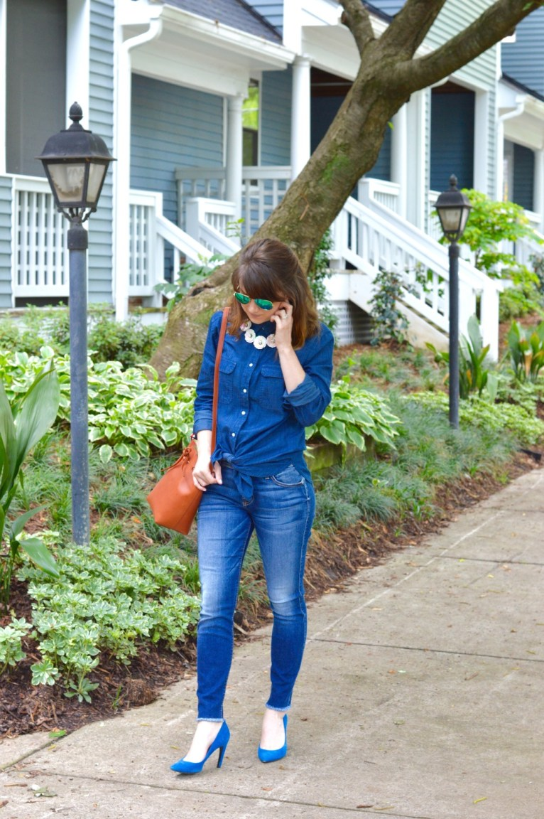 denim shirt with jeans