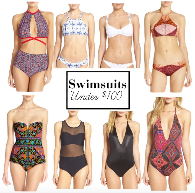 Swimsuits Under $100 || www.polishedclosets.com
