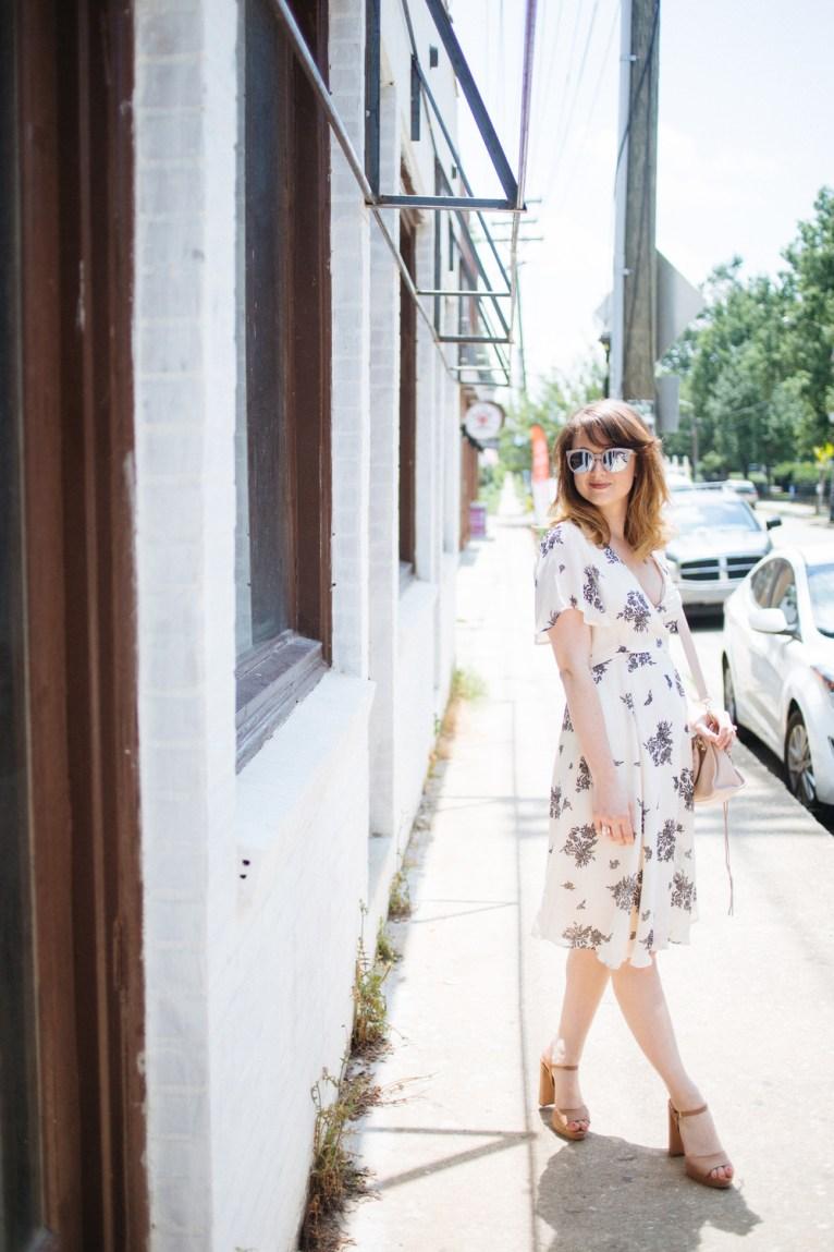 Floral Wrap Dress || www.polishedclosets.com
