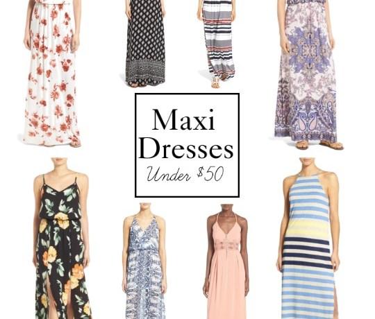 Maxi Dresses Under $50