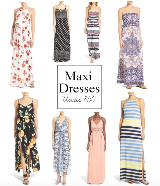 Maxi Dresses Under $50 || www.PolishedClosets.com