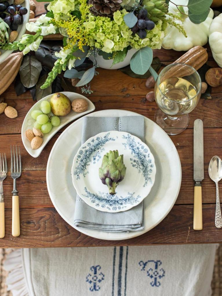 Succulent Thanksgiving Table Setting