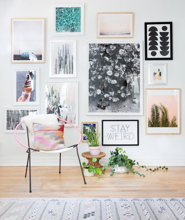 clean gallery wall