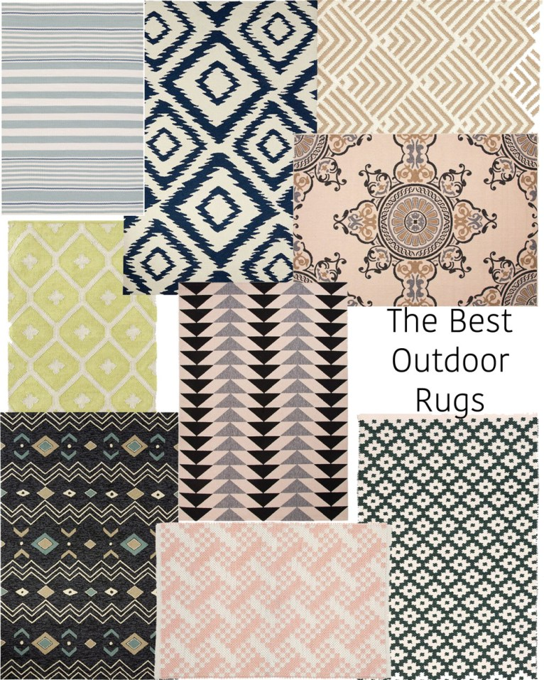 the best outdoor rugs // www.polishedclosets.com