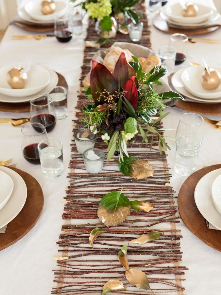 Natural Thanksgiving Table Runner