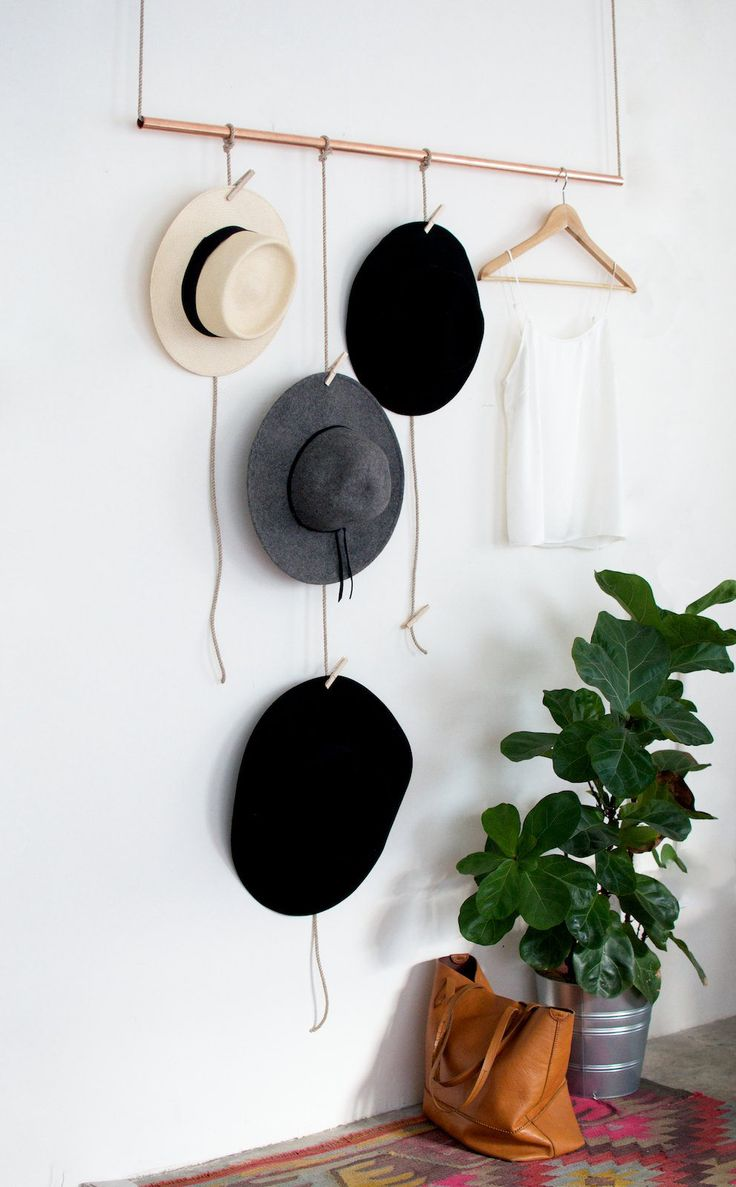 how to organize your hats // www.polishedclosets.com