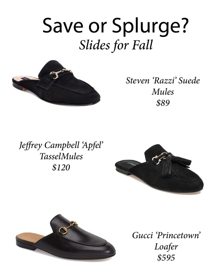 Slides for Fall // www.polishedclosets.com