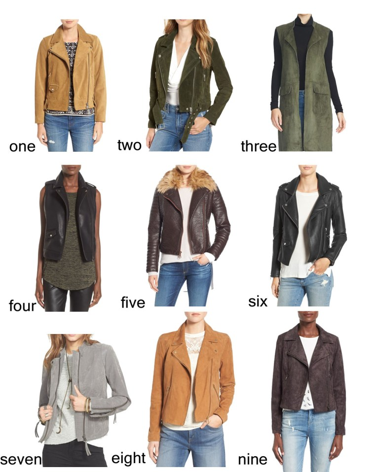 Moto Jackets for Fall // www.polishedclosets.com