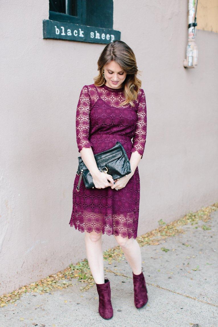 Chicwish Burgundy Lace Dress_Polished Closets
