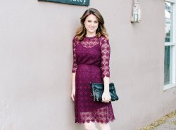 Chic Wish Burgundy Lace Dress // www.polishedclosets.com