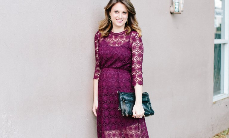 Lace Dress for the Holidays