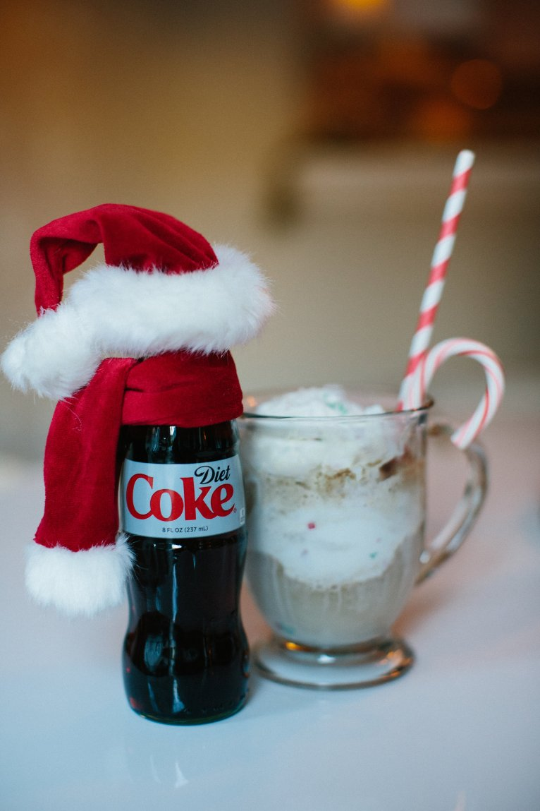Holiday Diet Coke Peppermint Float // www.polishedclosets.com