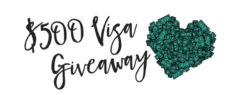 $500 visa giveaway