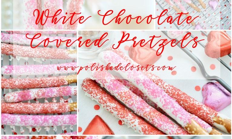 White Chocolate Covered Pretzels