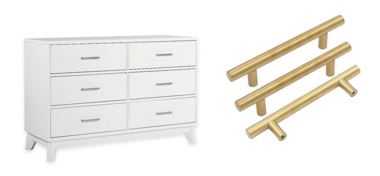 gold drawer pulls // www.polishedclosets.com