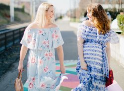 what to wear to a baby shower // www.polishedclosets.com