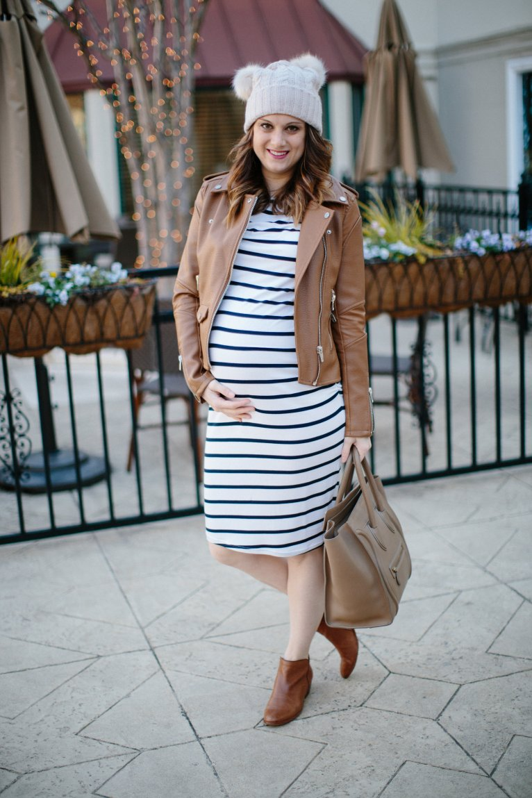 Striped Dress // www.polishedclosets.com