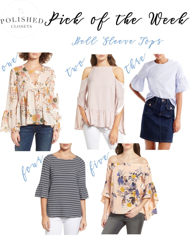 bell sleeve tops // www. polishedclosets.com