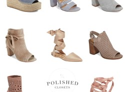 Pastel Shoes for Spring // www.polishedclosets.com